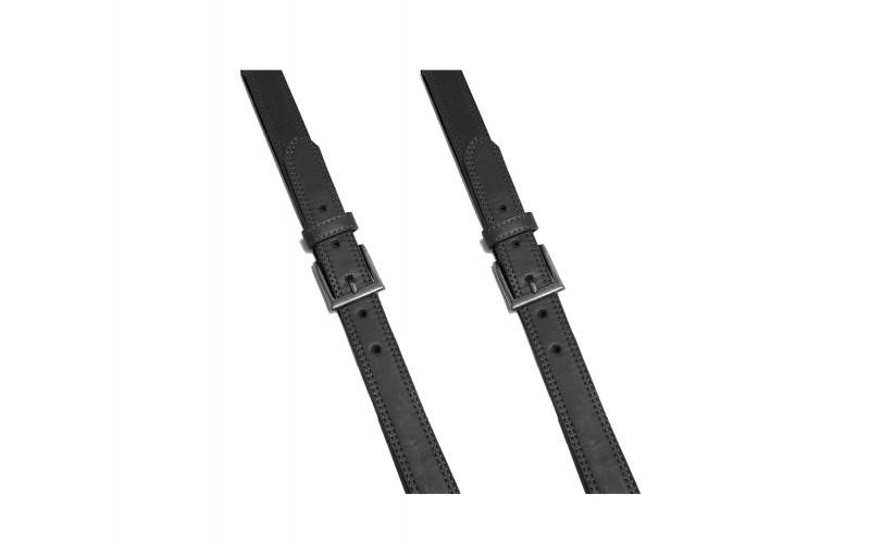 Cinturón Vaquero x3 1/2 doble costura Negro